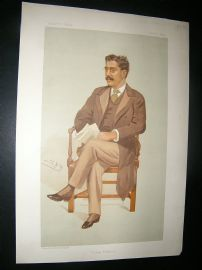 Vanity Fair Print: 1894 Clement King Shorter